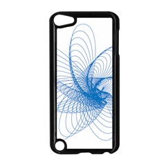 Spirograph Pattern Drawing Design Blue Apple Ipod Touch 5 Case (black)
