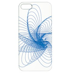 Spirograph Pattern Drawing Design Blue Apple Iphone 5 Hardshell Case With Stand