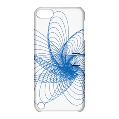 Spirograph Pattern Drawing Design Blue Apple iPod Touch 5 Hardshell Case with Stand