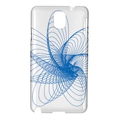Spirograph Pattern Drawing Design Blue Samsung Galaxy Note 3 N9005 Hardshell Case