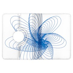 Spirograph Pattern Drawing Design Blue Kindle Fire Hdx Flip 360 Case