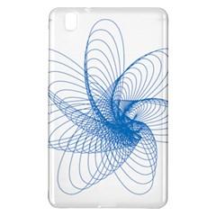 Spirograph Pattern Drawing Design Blue Samsung Galaxy Tab Pro 8 4 Hardshell Case