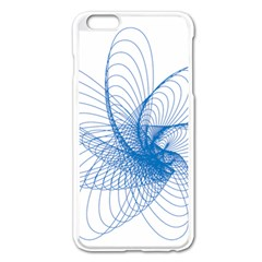 Spirograph Pattern Drawing Design Blue Apple iPhone 6 Plus/6S Plus Enamel White Case