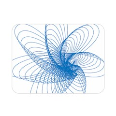 Spirograph Pattern Drawing Design Blue Double Sided Flano Blanket (mini)
