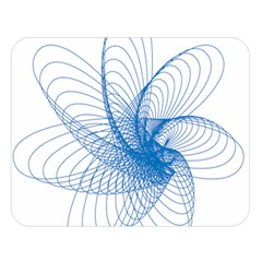 Spirograph Pattern Drawing Design Blue Double Sided Flano Blanket (Large)