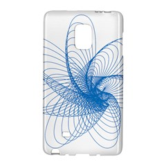 Spirograph Pattern Drawing Design Blue Galaxy Note Edge