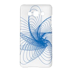 Spirograph Pattern Drawing Design Blue Samsung Galaxy A5 Hardshell Case