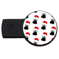 Pattern Sheep Parachute Children USB Flash Drive Round (4 GB)