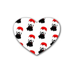Pattern Sheep Parachute Children Rubber Coaster (heart)