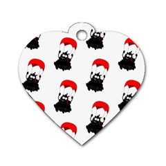 Pattern Sheep Parachute Children Dog Tag Heart (two Sides)