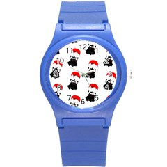 Pattern Sheep Parachute Children Round Plastic Sport Watch (s)
