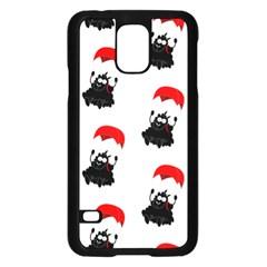 Pattern Sheep Parachute Children Samsung Galaxy S5 Case (black)