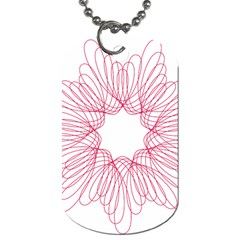 Spirograph Pattern Drawing Design Dog Tag (one Side)
