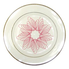 Spirograph Pattern Drawing Design Porcelain Plates