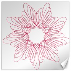 Spirograph Pattern Drawing Design Canvas 20  X 20