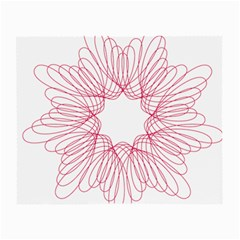 Spirograph Pattern Drawing Design Small Glasses Cloth (2-Side)