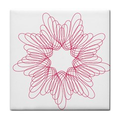 Spirograph Pattern Drawing Design Face Towel