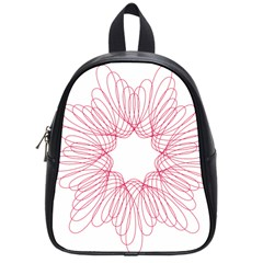 Spirograph Pattern Drawing Design School Bags (Small)