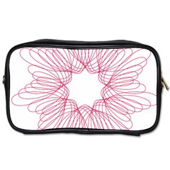Spirograph Pattern Drawing Design Toiletries Bags 2-Side