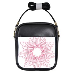 Spirograph Pattern Drawing Design Girls Sling Bags