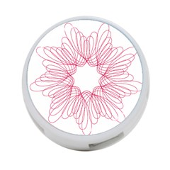 Spirograph Pattern Drawing Design 4-Port USB Hub (One Side)