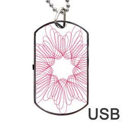 Spirograph Pattern Drawing Design Dog Tag Usb Flash (one Side)