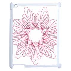 Spirograph Pattern Drawing Design Apple iPad 2 Case (White)