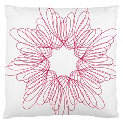 Spirograph Pattern Drawing Design Large Cushion Case (Two Sides)