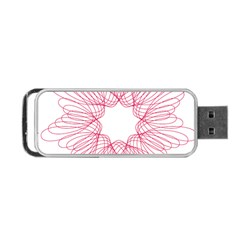 Spirograph Pattern Drawing Design Portable USB Flash (One Side)
