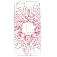 Spirograph Pattern Drawing Design Apple Iphone 5 Hardshell Case With Stand