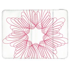 Spirograph Pattern Drawing Design Samsung Galaxy Tab 7  P1000 Flip Case
