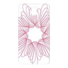 Spirograph Pattern Drawing Design Samsung Galaxy Note 3 N9005 Hardshell Back Case