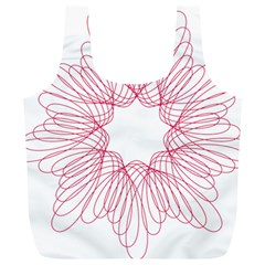 Spirograph Pattern Drawing Design Full Print Recycle Bags (l)