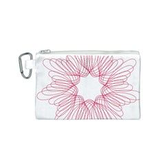 Spirograph Pattern Drawing Design Canvas Cosmetic Bag (s)