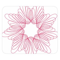 Spirograph Pattern Drawing Design Double Sided Flano Blanket (small)