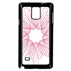 Spirograph Pattern Drawing Design Samsung Galaxy Note 4 Case (black)
