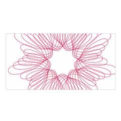 Spirograph Pattern Drawing Design Satin Shawl