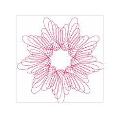 Spirograph Pattern Drawing Design Small Satin Scarf (Square)