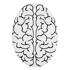 Brain Mind Gray Matter Thought Ornament (oval)
