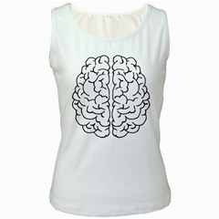 Brain Mind Gray Matter Thought Women s White Tank Top