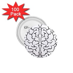 Brain Mind Gray Matter Thought 1.75  Buttons (100 pack)