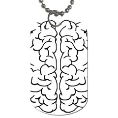 Brain Mind Gray Matter Thought Dog Tag (one Side)