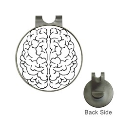 Brain Mind Gray Matter Thought Hat Clips with Golf Markers