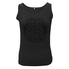 Brain Mind Gray Matter Thought Women s Black Tank Top