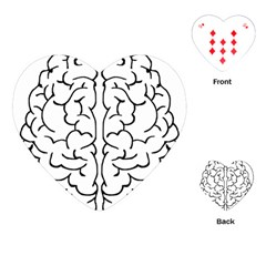Brain Mind Gray Matter Thought Playing Cards (heart)