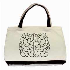 Brain Mind Gray Matter Thought Basic Tote Bag