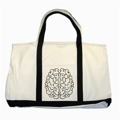 Brain Mind Gray Matter Thought Two Tone Tote Bag