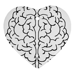 Brain Mind Gray Matter Thought Heart Ornament (two Sides)