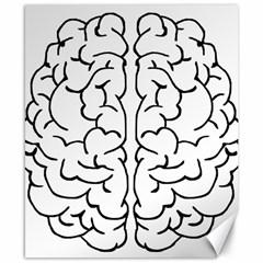 Brain Mind Gray Matter Thought Canvas 8  x 10