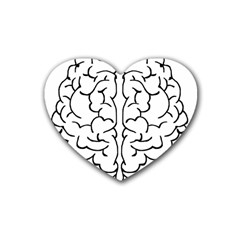 Brain Mind Gray Matter Thought Heart Coaster (4 pack)